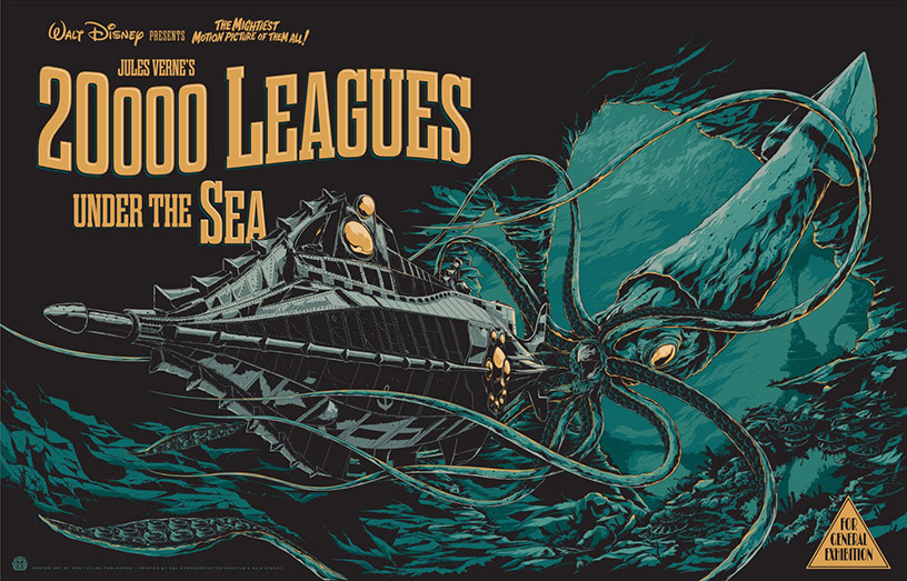 20'000 Leagues Under the Sea Poster by Ken Taylor
