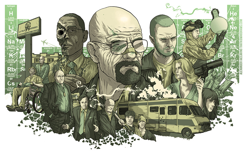 Breaking bad poster art by Alexander Iaccarino