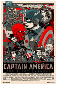 Captain America poster by Tyler Stout