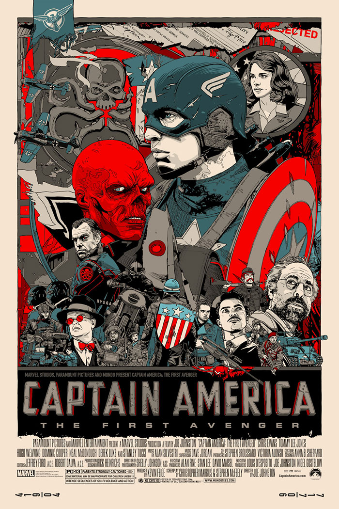 Captain America: The First Avenger poster art by Tyler Stout