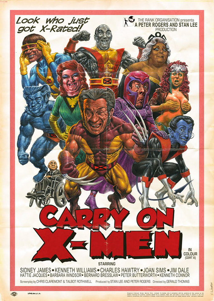 Carry on X-Men poster by Chris Weston