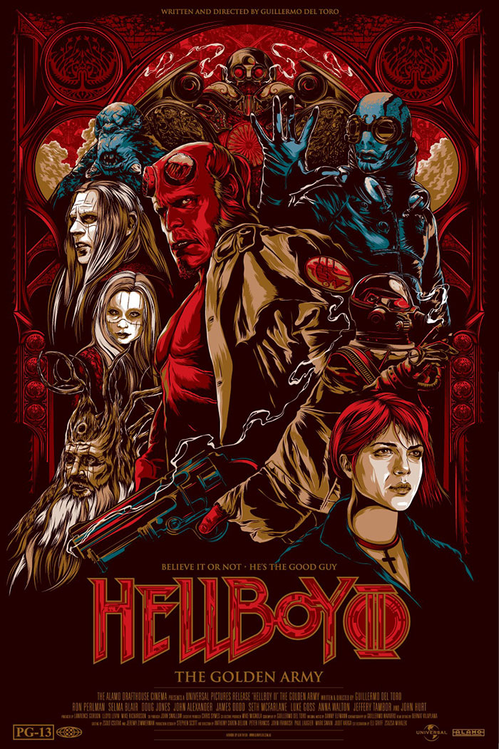 HellBoy 2 poster by Ken Taylor