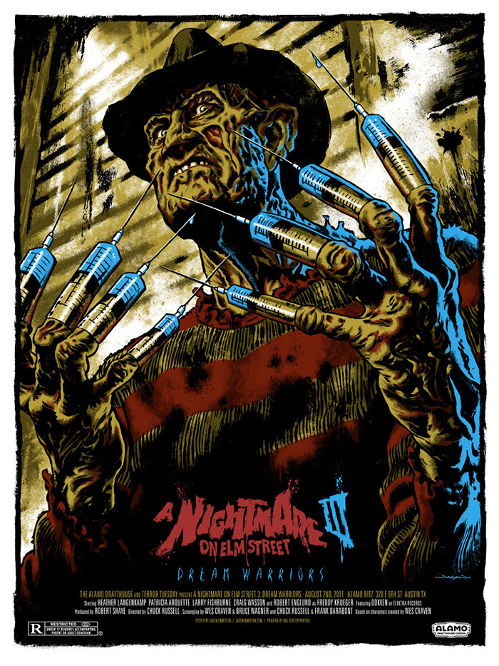 A NIghtmare on Elm Street Part 3 poster by Jason Edmiston