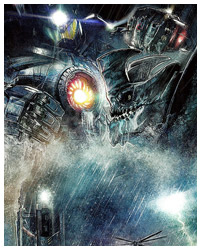 Pacific Rim poster art by Paul Shipper