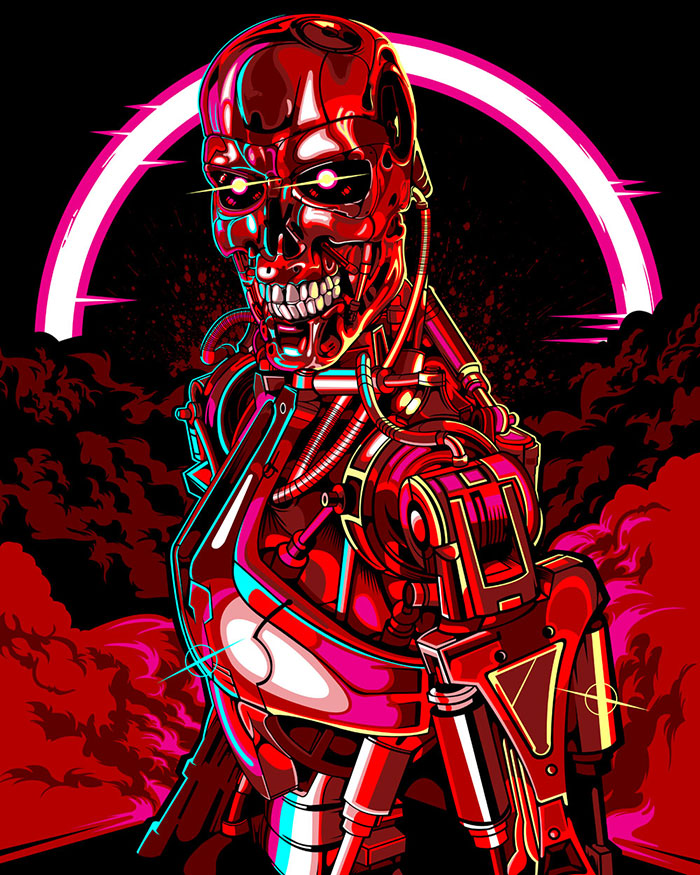 The Terminator poster art by Samuel Ho