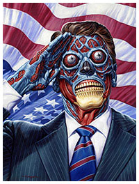 They Live poster print by Jason Edmiston