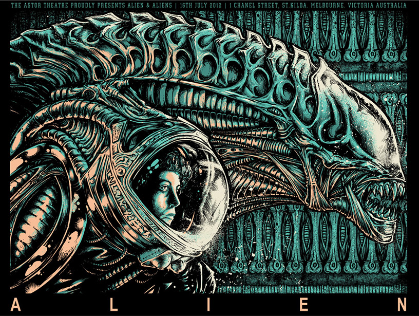 Alien - Aliens poster art by Godmachine
