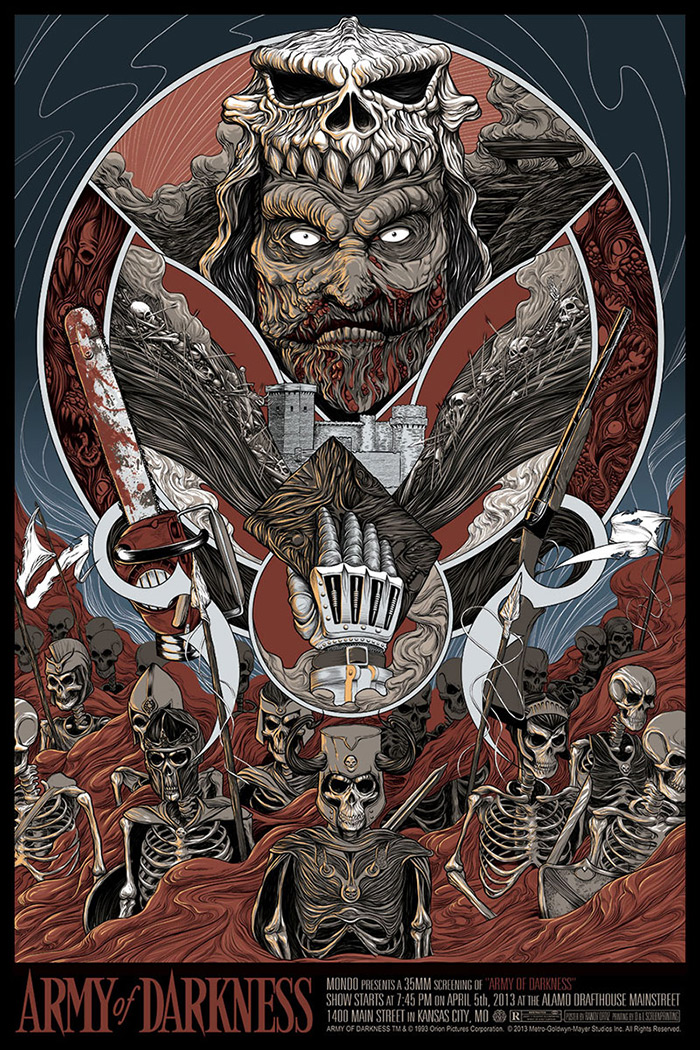Army of Darkness poster art by Randy Ortiz