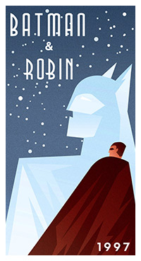 Batman & Robin poster art by Robolfo Reyes
