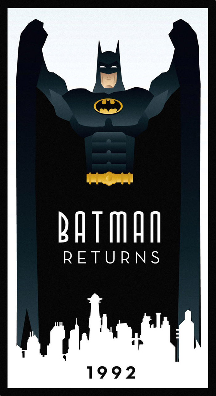 Batman Returns poster fanart by Rodolfo Reyes