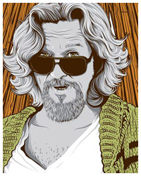 The Big Lebowski poster art by Tracie Ching