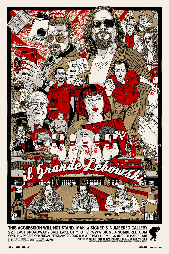 The Big Lebowski poster by Tyler Stout