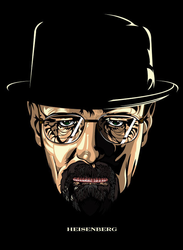 Breaking Bad poster art by Samuel Ho