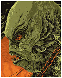 Creature From the Blac Lagoon poster art by Ken Taylor