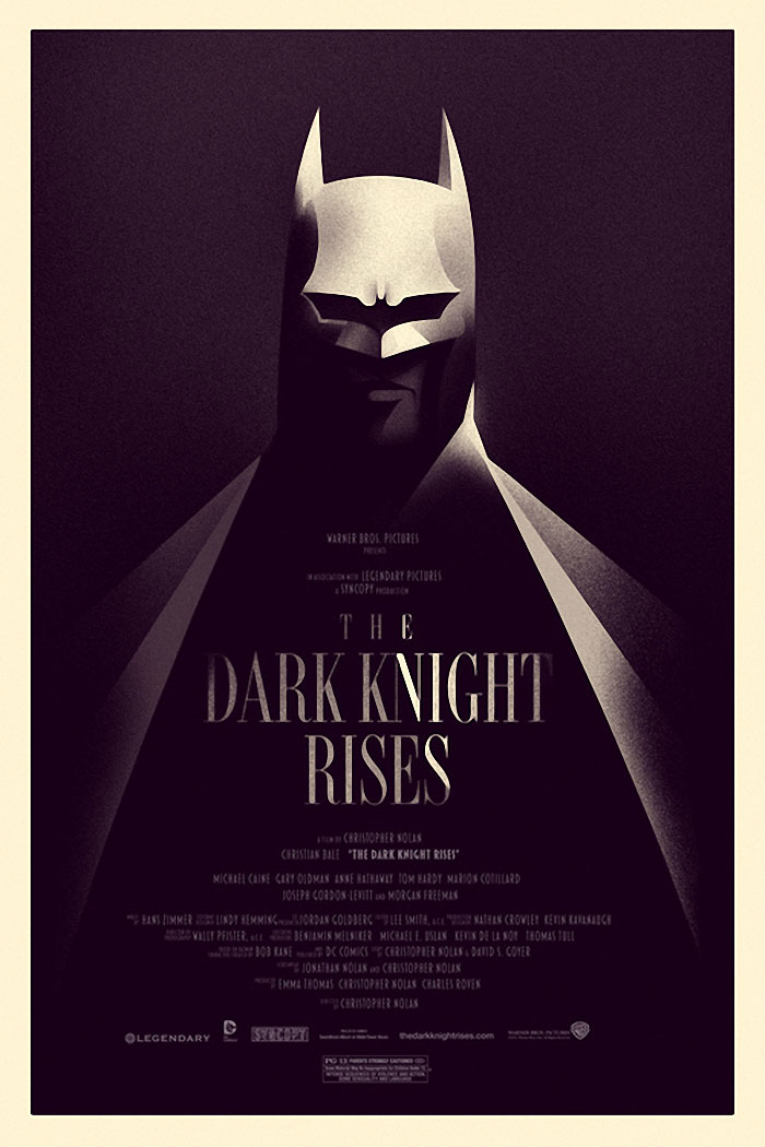 The Dark Knight Rises Variant version poster print by Olly Moss