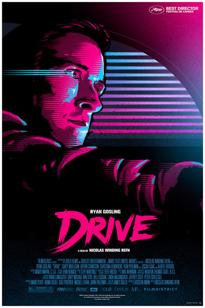 Drive (2011) poster art by James White