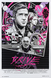 Drive (2011) poster (Portrait Version) by Tyler Stout
