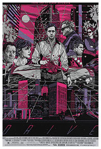Drive poster (Cityscape version) by Tyler Stout