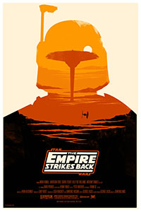 Star Wars The Empire Strikes Back poster by Olly  Moss