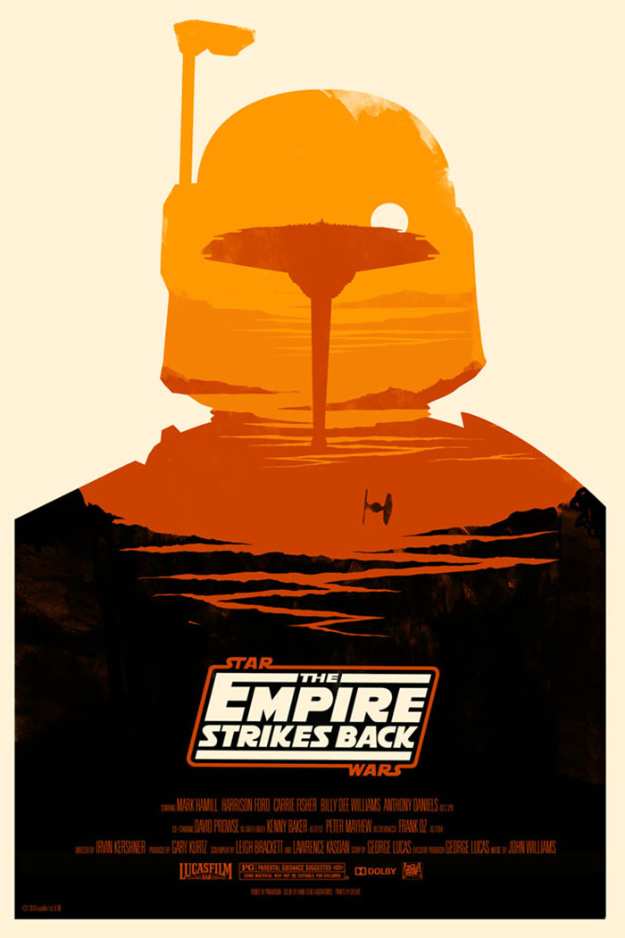 Star Wars The Empire Strikes Back poster artwork by Olly Moss