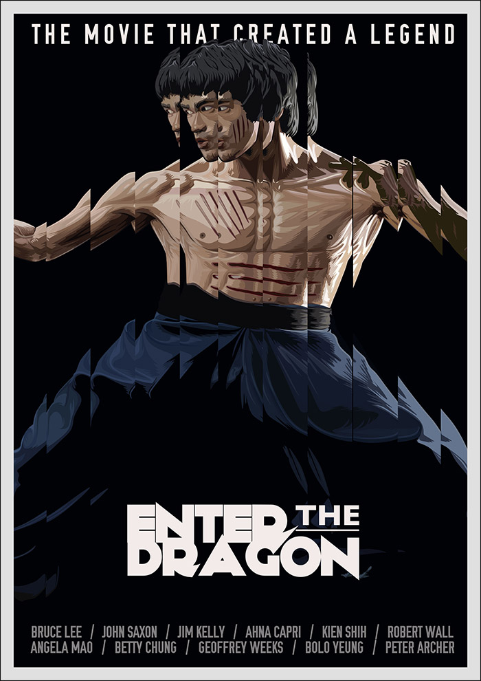 Enter the Dragon poster by Matt Edwards