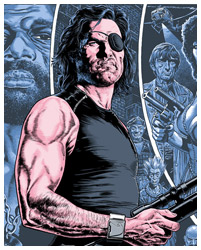 Escape from New York poster art by Chris Weston