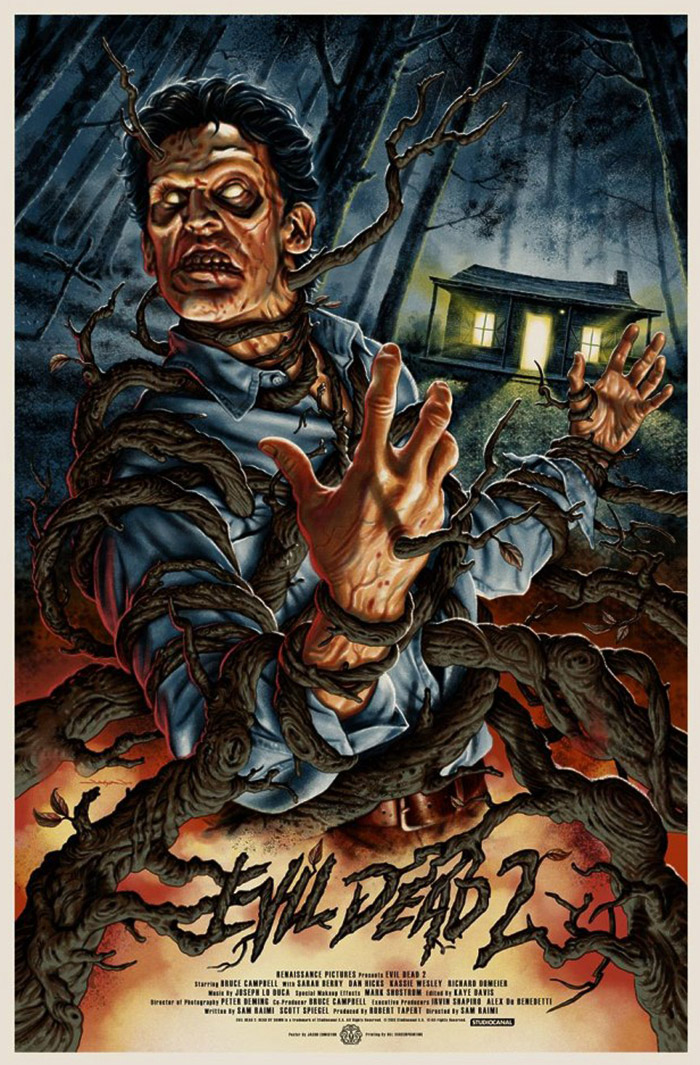Evil Dead 2 alternative poster by Jason Edmiston
