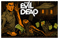 The Evil Dead poster artwork by Florian Bertmer
