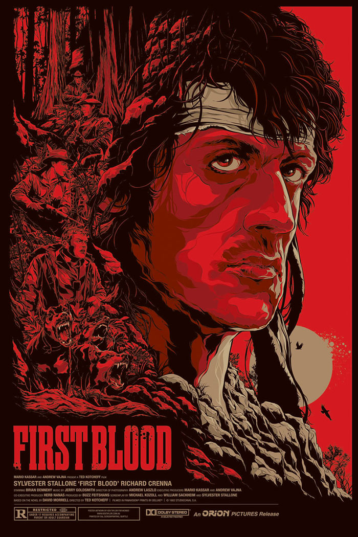First Blood poster art by Ken Taylor
