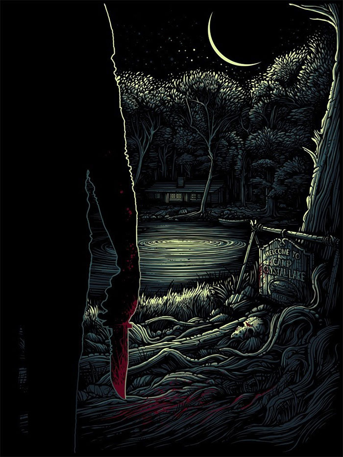 Friday The 13th poster by Dan Mumford