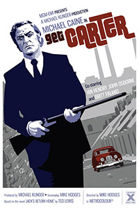 Get Carter poster art by Paul Flanders