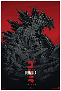Godzilla (2014) poster art by Phantom City Creative