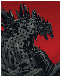 Godzilla poster by Olly Moss