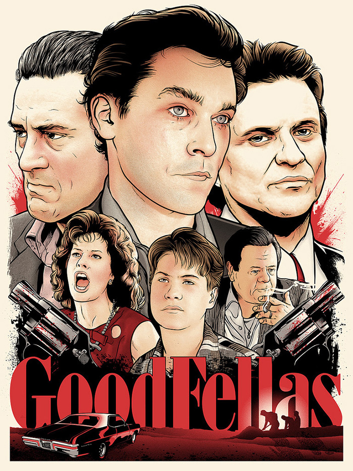 Goodfellas poster art by Joshua Budich