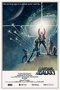 Guardians of the Galaxy (2014) alternative film poster by Matt Ferguson