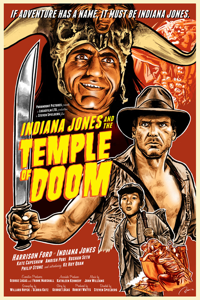 indiana Jones and the Temple of Doom poster by Blain Hefner