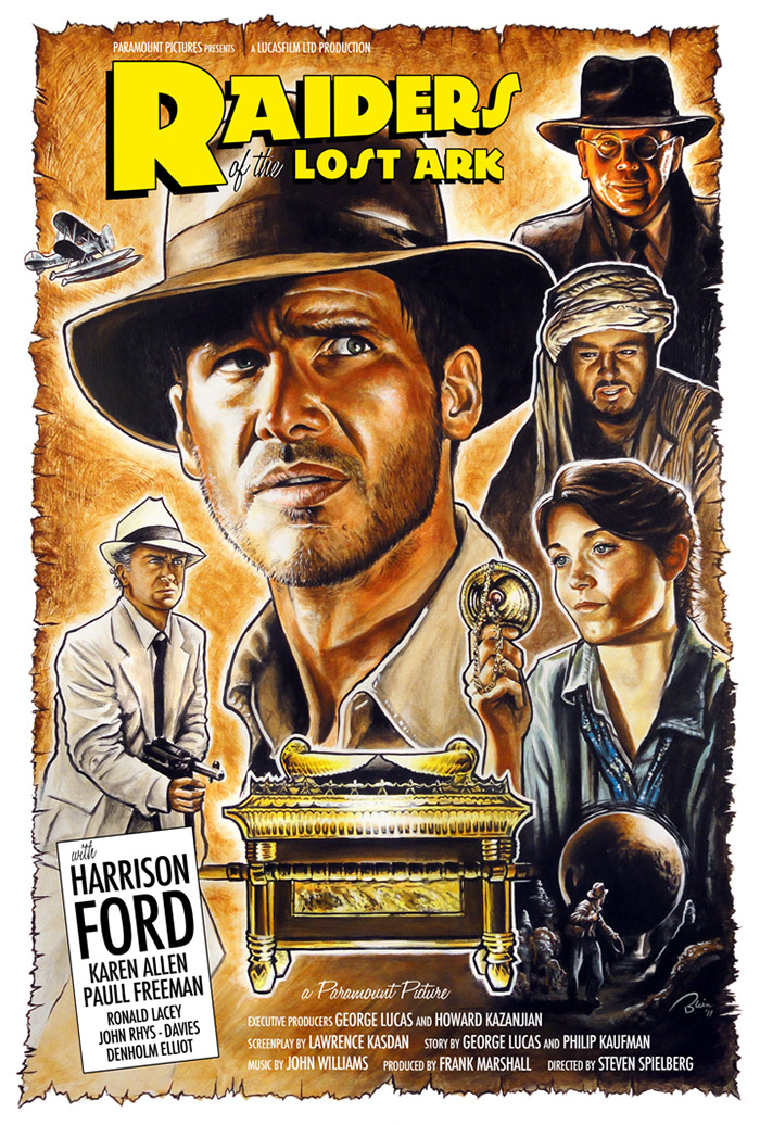 Indiana Jones and the Raiders of the Lost Ark poster by Blain Hefner
