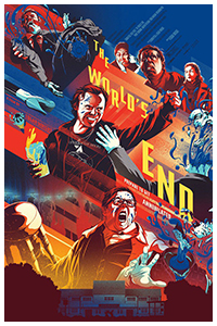 The World's End (2013) poster art by Kevin Tong