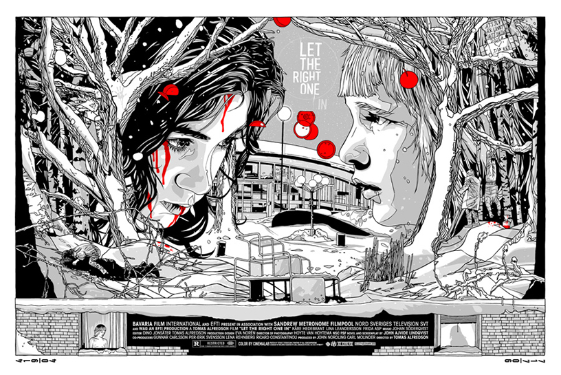 Let the Right one In (2008) poster by Tyler Stout