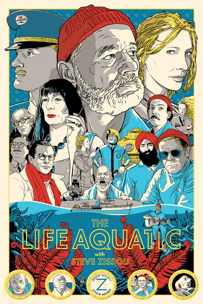The Life Aquatic with Steve Zissou poster by Joshua Budich