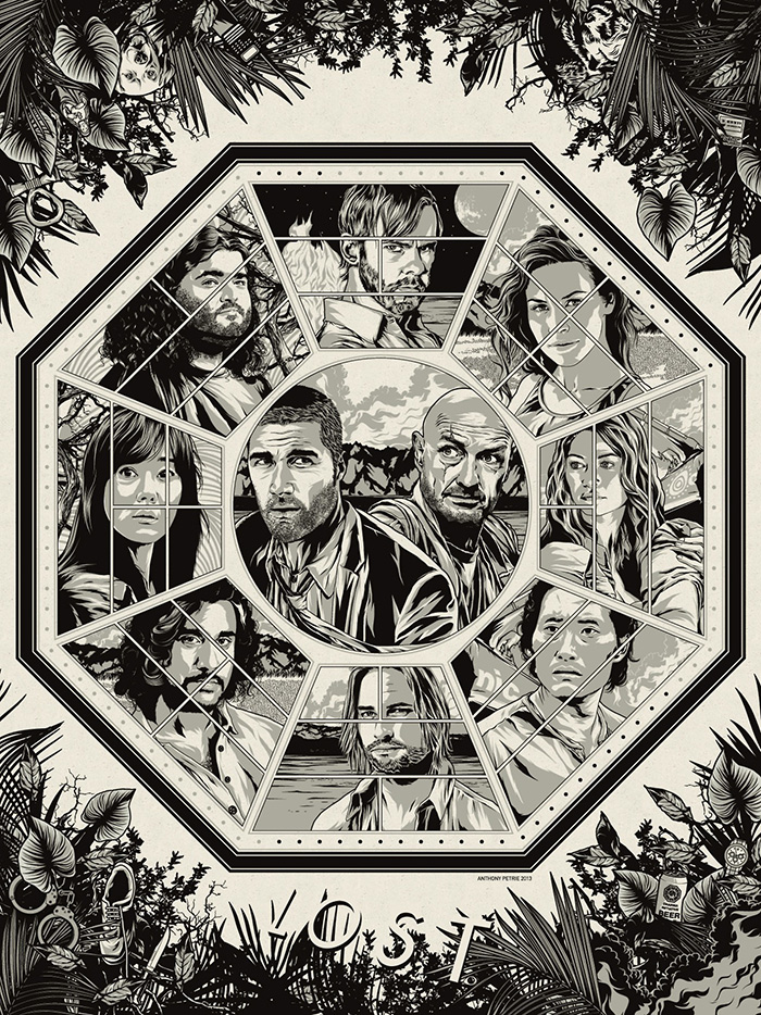 Lost poster artwork by Anthony Petrie
