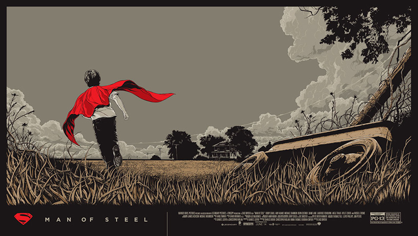 Man of Steel poster art by Ken Taylor