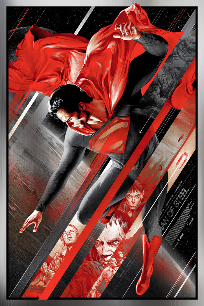 Man of Steel poster variant by Martin Ansin