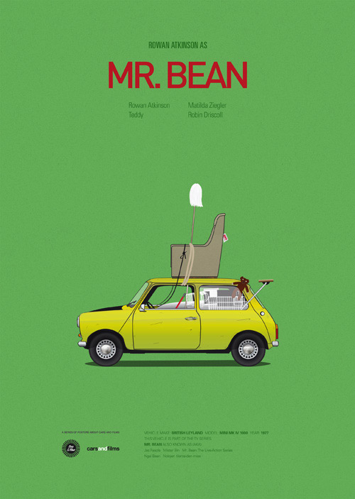 Mr Bean poster art by Jesús Prudencio