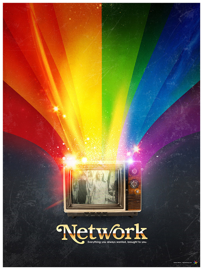 Network poster art by James White