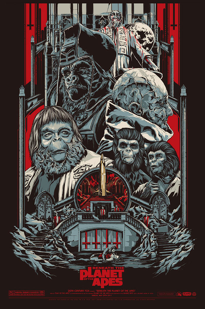Beneath the Planet of the Apes poster by Ken Taylor