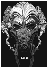 Plo Koon from Star Wars poster by Matt Edwards