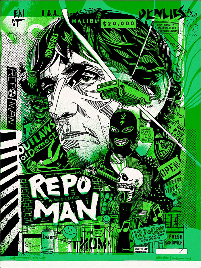 Repo Man poster art by Tyler Stout