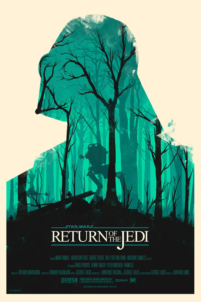 Star Wars Return of the Jedi poster art by Olly Moss
