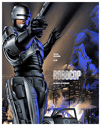 Robocop (1987) alternative movie poster by Martin Ansin
